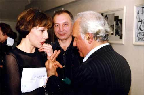 """Т. Кабанова, В. С. Окунев, Жан Татлян. Театр-клуб """"Русский шансон"""", 2000 г."""