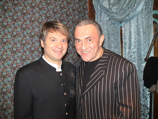 Владимир Утёсов и Александр Добронравов