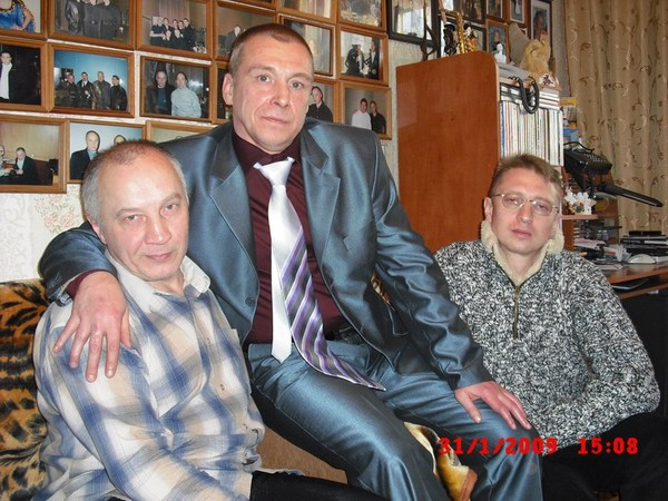 с Владимиром Окуневым и Виктором Чайка в Музее шансона