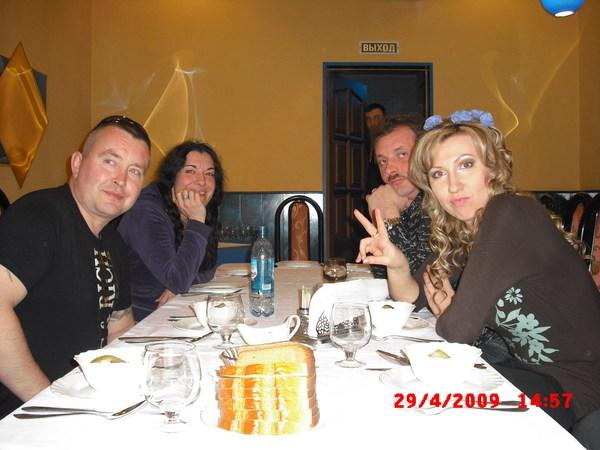 """в ресторане гостиницы """"Советская"""" (Андрей Фролов, Лала Хопер,Ольга Сердцева)"""