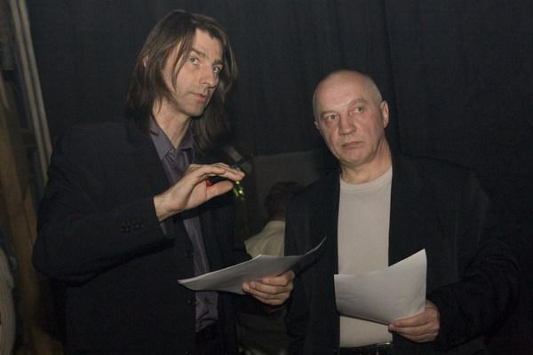 ведущие гала-концерта: Валерий Ремесник и Владимир Окунев