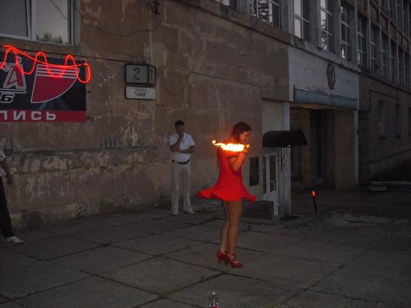 огненное шоу Лалы Хопер