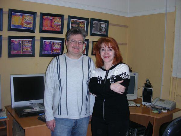 Олеся Атланова и Олег Савенок (продюсер М. З. Шуфутинского)