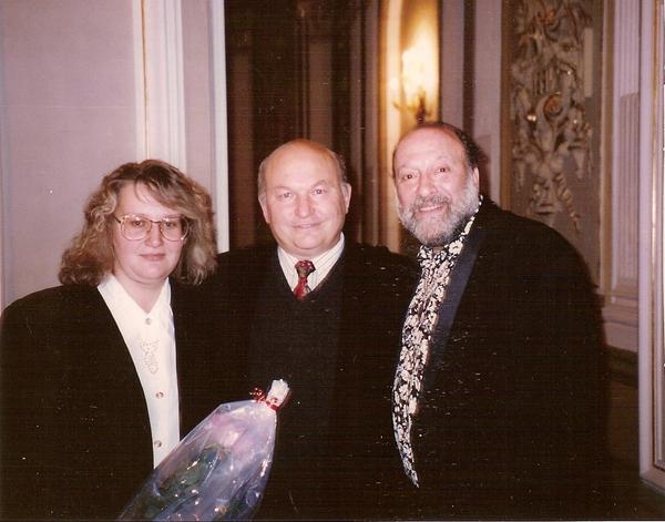 Михаил Гулько и Юрий Михайлович Лужков с супругой Еленой