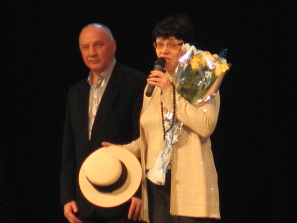 Ольга Воробьёва (сестра Михаила Круга) и Владимир Окунев