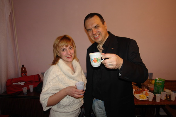 Гримерная ...Рита и Алексей Князев