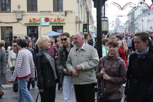 встреча с крёстным на Невском проспекте