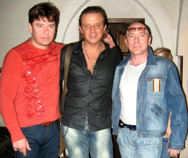 Олег Пахомов с Валерием Юриным и Ромой Жуковым