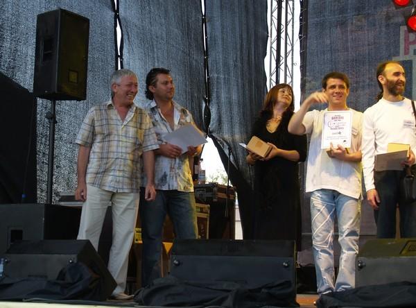 Леонид Телешев, Анатолий Корж, Оля Вольная, Влад Павлецов на фестивале в Твери - 2007 г.