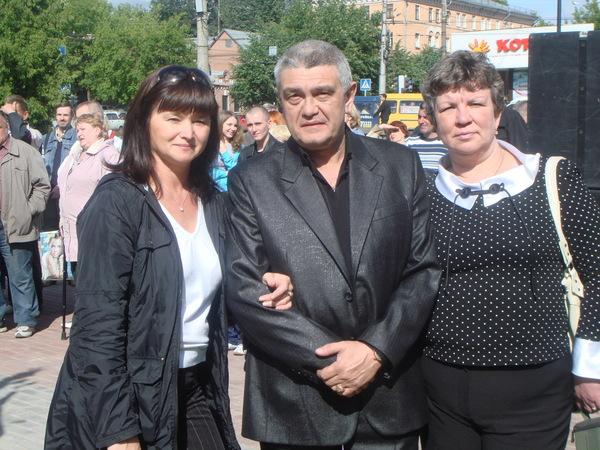 Оля Вольная , Владимир Тимофеев с женой Ольгой