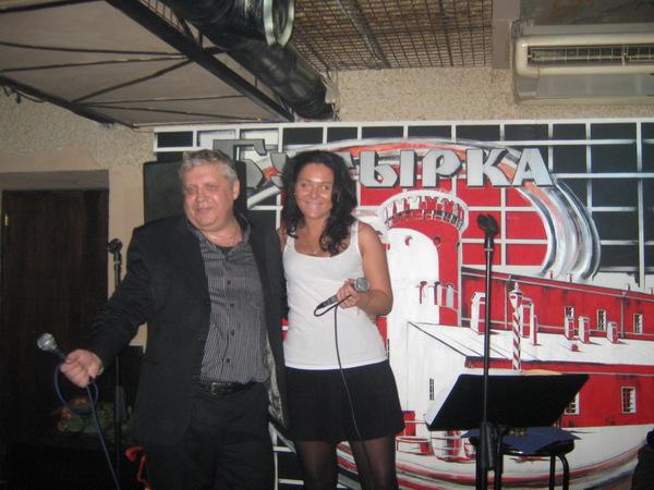 Оксана Билера поёт песни Г. Жарова на его концерте 05.11.10г.