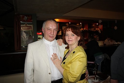В. Окунев и Ольга Титинина