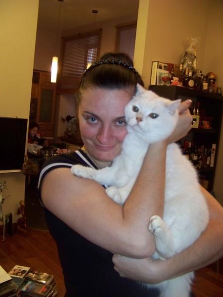 с любимым котом Патриком
