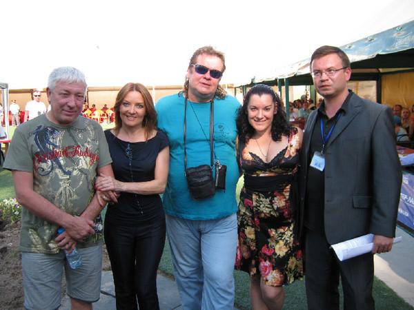Леонид Телешев, Таня Дяченко, Олег Баянов, Лала Хопер и Николай Орловский