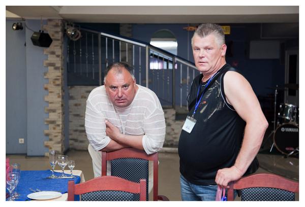 Валерий Петрович Загороднюк и Саша Адмирал (члены жюри фестиваля)