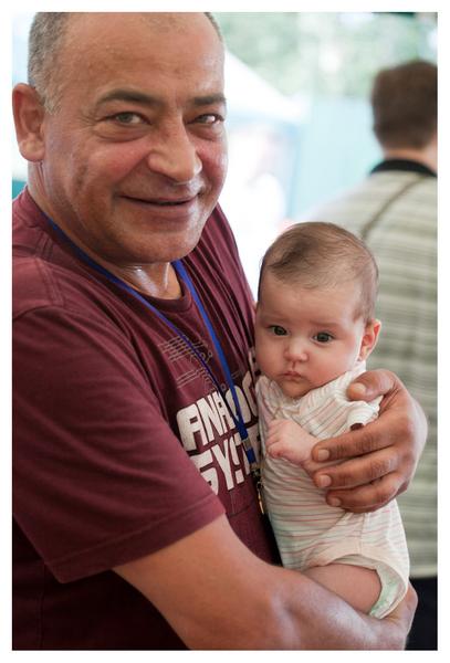 Степан Арутюнян с дочкой