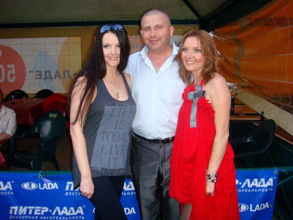Мила, Олег, Таня Дяченко