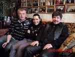 Саша Адмирал, Лала Хопер и Владимир Стольный в Музее шансона