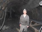 глубина шахты - 1250 метров
