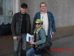 Анна Ниткина, Павел Ростов, Олег Баянов. Встреча на вокзале в г. Иваново