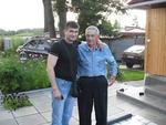 Павел Ростов с отцом на даче