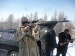 Светлана Питерская на охоте в г. Тында