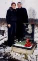 Светлана Питерская и Александр Дюмин на могиле А. Северного