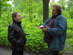 О. Баянов записывает интервью с С. И. Маклаковым 29.05.2010 г.