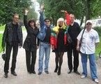 "с друзьями на фестивале ""Чёрная роза"" - 2010 г."