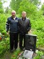 Владимир Степанович Окунев и Сергей Иванович Маклаков на месте захоронения в крематории