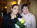 Елена и журналистка Ирина Барышева (Москва)