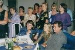 Композитор Елена Суржикова и Николай Караченцов на банкете после творческого вечера (конец 1990-х годов).