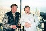 С киевским композитором Владимиром Быстряковым (1998 год).