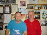 Алексей Созонов и Владимир Степанович Окунев в Музее шансона, 6.06.2015 г., С. Петербург