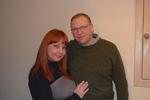 Александр Кирсс (г. Берлин, Германия) и Ирина Окунева (ст. администратор Музея шансона и радио РаШа)