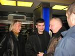 Юлия Хаткевич, Павел Ростов и Владимир Окунев на Московском вокзале