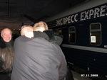 встреча Александра Дюмина на Московском вокзале: Владимир Окунев, Сергей Новиков, Александр Дюмин