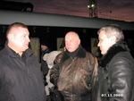На Московском вокзале: Владимир Окунев, Сергей Новиков, Александр Дюмин