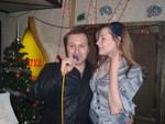 Виктор Петлюра и Диана Теркулова на концерте Дианы Теркуловой. 19.12. 2008 г.