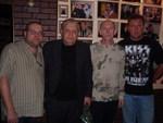 Дмитрий, Геннадий Жаров, Слава Бобков и Сергей Кузьменко (в то время концертный директор Г. Жарова)