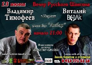 Афиша: Владимир Тимофеев и Виталий Волк - концерт в г. Бердск