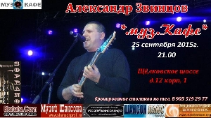 Афиша: Концерт Александра Звинцова в