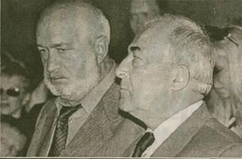 Проститься с Михаилом Кругом пришли Владимир Платов и Александр Тягунов