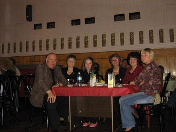 С семьей и друзьями после выступления