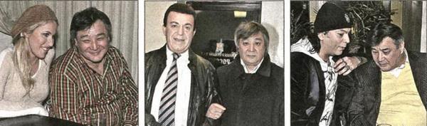 Алимжан Тохтахунов с Ксюшей Собчак, Иосифом Кобзоном, Филиппом Киркоровым