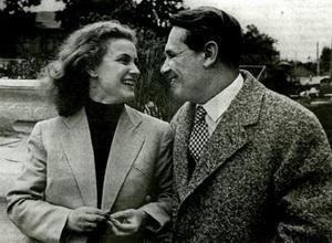 Татьяна Пилецкая и Марк Бернес в 1956 году